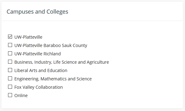 Campuses and Colleges
